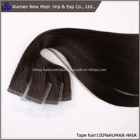 Wholesale New tape hair extension one set color virgin hair brazilian hair for lady hair extension
