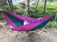 Wholesale parachute cloth double hammock tourism camping hammock survival outdoor or indoor