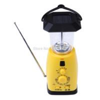 Wholesale Solar Hand Crank LED Camping Lantern With AM FM NOAA Weather Radio PTCT lantern bulb