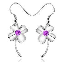 az silver - good quality Valentine s silver beautiful flower shape CZ crystal drop earrings g mm x mm AZ