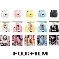 Wholesale Fuji Mini Camera Fujifilm Fuji Instax Mini Instant Film Photo Camera New Colors White Pink Yellow Blue Black