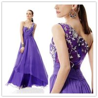 vogue wedding dress - Vogue One Shoulder Long Bridesmaid Dresses Chiffon Party Prom Gown Column Sequins Hi Lo Wedding Guest Gowns Zipper Custom Made GD03