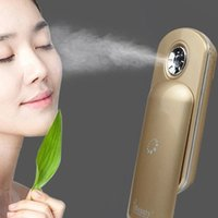 battery operated sprayers - Free DHL iBeauty Nano Skin Handy Mist Atomization Facial Humectant Steamer Ionic Sprayer Mini Moisturizing Beauty Equipment