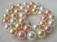 beautiful beaded necklaces - gt gt gt Beautiful quot mm multicolor white pink golden south sea shell pearl necklace