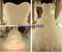 church dresses - 2014 Luxury Beaded Embroidery Bridal Gown Princess Gown Sweetheart Corset Organza Cathedral Church Ball Gown Wedding Dresses Cheap
