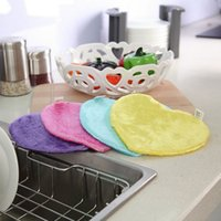 Wholesale Wood fiber water absorption and decontamination of the non stick oil Kitchen Towel shaped towel
