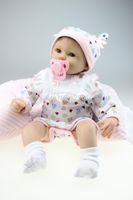 achat en gros de reborn baby-Gros-Hot vente 18 pouces RealTouch 100% handmad reborn réaliste bebe simulation de silicone souple poupées reborn jouet de bébé