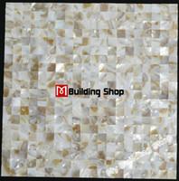 mosaic tile - Mother of pearl tile backsplash sea shell mosaic kitchen mosaic tiles MOP010 natural sea shell mother of pearl tiles bathroom