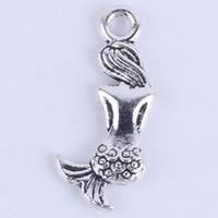 Wholesale New fashion silver copper retro Mermaid Pendant Manufacture DIY jewelry pendant fit Necklace or Bracelets charm w