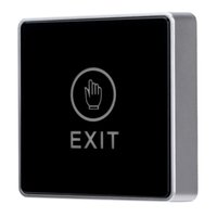 Wholesale Door Touch Exit Release Button Switch with LED Backlight for Entry Access Control S575