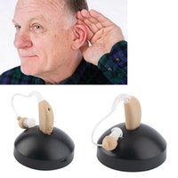 Wholesale Rechargeable Hearing Aids Sound Voice Amplifier Behind The Ear EU US Plug fast shipment