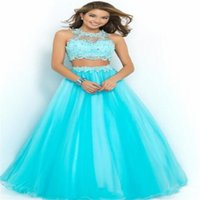Cheap Two Pieces Prom Gowns Best Fashion Party gown