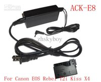 Wholesale ACK E8 AC Adapter Kit for Canon EOS Rebel T2i Kiss X4 power adapter