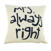 Wholesale Amazing Cotton Linen Square Decorative Throw Pillow Case Cushion Cover Lover s Couples Pillowcase For Wedding gifts