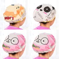 Wholesale cute adorable cartoon series fashion lace Waterproof Shower cap Korea shampoo cap