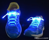 Wholesale Waterproof LED Flashing Shoe Lace lamp Fiber Optic Shoelace Shoe Laces Light Up Shoes lace fluorescent lights Hallowmas gift pairs