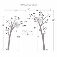 baby name tree - 2016 New Baby Nursery Bedroom Wall Decor Koala Tree And Custom Name Wall Sticker D Vinyl Decals Personalized Home Decoration
