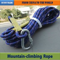 climbing rope - Outdoor mountain climbing rope safety rope imported fiber material rope