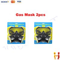 Cheap Freeshipping 2pcs lot Industrial safety equipment, Gas Mask, Face Mask protection filter