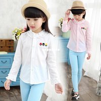 baby turtleneck shirts - Spring xayakids The female s white shirt white Turtleneck Shirt Lapel dress spring baby girl dress shirt