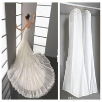 Wholesale 2015 Wedding Dress Bags White Dust Bag Travel Storage Dust Covers Bridal Accessories For Bride Garment Cover Travel Storage Dust Covers