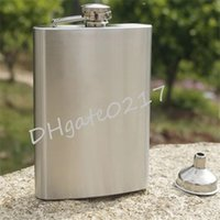 Wholesale High Quality Portable Stainless Steel oz Hip Flask Flagon Whiskey Wine Pot Bottle Gift