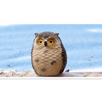Wholesale 2015 Cute Artificial Owl Figurines Miniature Resin Craft for Home Decoration Mini Owl Arts and Crafts