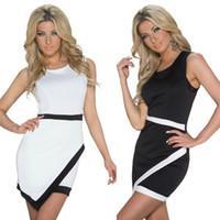 best black tights - Sexy Sleeveless Bodycon Mini Dress For Women New Best Price Fashion Sheath Tight Short Dresses Club Wear Black White M L XL
