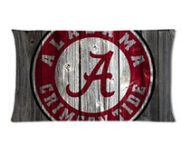 alabama case - Alabama Sport Team Logo Custom Zippered Rectangle Pillowcases Pillow Cover Cases Size x75cm Two sides U2