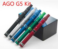 Cheap Top Quality AGo G5 Pen Vapormax Kits Eletronic Cigarette e cig for Dry Herb Cut tobacco Atomizer Clearomizer for eGo-T 650mah Battery