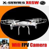 Wholesale X6SW Remote Control Drone WIFI Fpv Camera RC Helicopter drone quadcopter gopro professional drones syma x5sw upgrated version