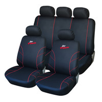 best car fabric - Best Quality Polyester Fabric Racing Full Car Seat Cover Set Universal Fit Car Covers Interior Accessories Seat Coverss Color