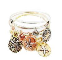 Wholesale Hot Sale Women Alex and Ani Bangle Starfish Sea Star Love Alloy Bracelets