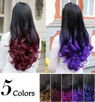 Wholesale 2015 Ombre Wig Hair Fall Half Wig Two Tone Curly Hair Wigs Gradient Two Colored Synthetic Wigs for Women Assorted Colors