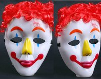 Wholesale Scary Crazed Clown Horror Mask Halloween Fancy Dress Circus Troupe Party