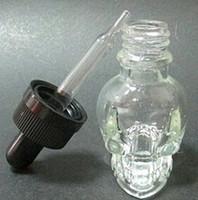 e juice - 50ml ml skull shape glass dropper bottle for e juice Stock essentail oil bottle dropper round frost glass dropper bottle with ml ml
