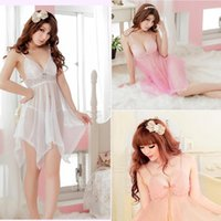 Wholesale 2016 Women Baby Dolls Sexy pajamas appeal nightgown lingerie Baby Dolls Transparent black big yards Fashion Exotic Apparel X124