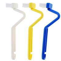 Wholesale S type Toilet Brush Scrubber Family Sanitary Curved Bent Handle Cleaning Brush FZ1164