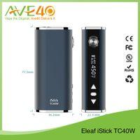 Wholesale Authentic Eleaf istick W TC Box Mod Ismoka W mah Display Mode Switchable Intelligent Temperature Control VS Kanger Nebox Kit DNA