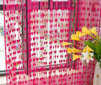 Wholesale Screen Divider Free Shipping - Wedding backdrop curtain love heart tassel Screens Room Dividers door Curtain party decoration props colorful free shipping