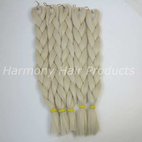 almond hair color - Kanekalon Jumbo braid Hair Folded inch G Almond Single color T0809 ombre Xpression Senegalese Twists Synthetic hair extensions
