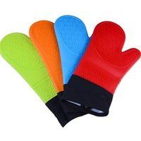 Wholesale Hot Seller Insulated Gloves High Temperature Resistant Baking Pastry Tools Thick Cotton Silicone JA49
