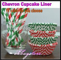 Wholesale Boys Rainbow Chevron Cupcake Liners ZigZag Baking Cups DESIGNER GREASE RESISTANT count each color