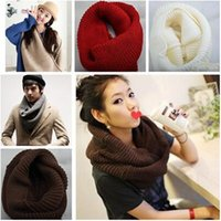 Wholesale 19 colors Korean Autumn Winter Scarf Women Warm Plain Winter Knit Neck for Women Accessories Neck Warmer Christmas Gifts Scarf