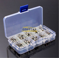 automotive glass fuses - Auto Glass Fuse Tube X mm Automotive Car Motorcycle SUV FUSES Kit Via