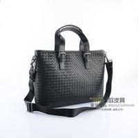 b handbags - discount super value genuine leather weave handbag B bag men s bag black shoulder bag