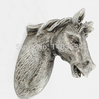 animal door pulls - Horse Pulls Terne Metal Antique Silver Knobs Cabinet Door Kids Animal Handle Drawer Pulls Kids Dresser Knobs and Pulls