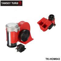 Wholesale TANSKY Car Motorcycle Truck V Red Compact Dual Tone Electric Pump Air Loud Horn Vehicle Siren TK HOM043