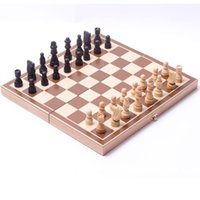 Wholesale Wooden Chess Set Board Game Foldable Portable Travel Kids Fun