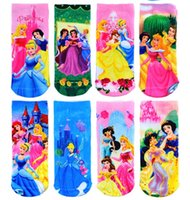 Wholesale Princess Girls Socks Cotton Character Children s Ankle Sock pairs Hot Sale
